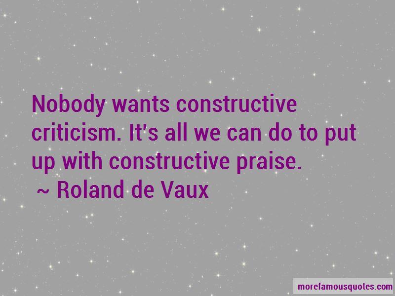 Roland De Vaux Quotes Pictures 2