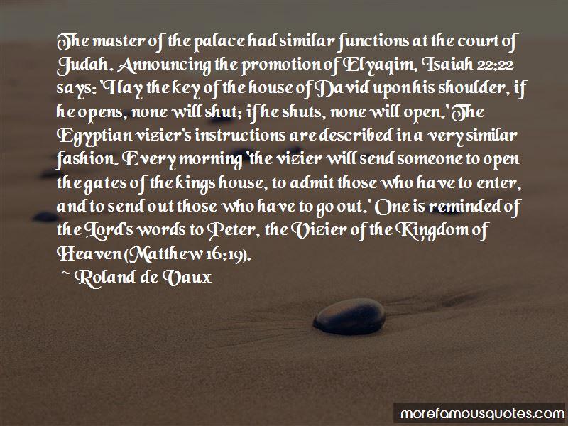 Roland De Vaux Quotes