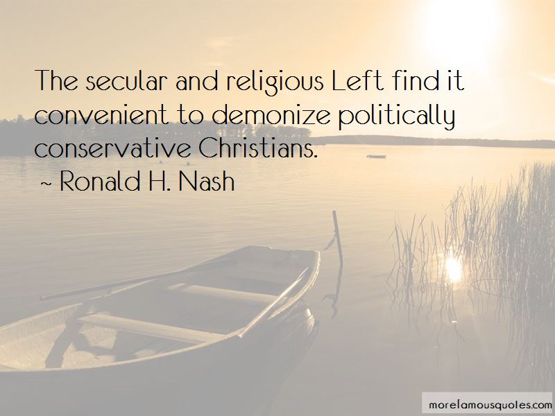 Ronald H. Nash Quotes