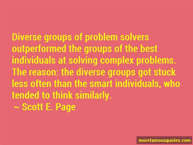 Scott E. Page Quotes