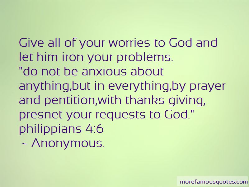 Quotes About Giving Worries To God