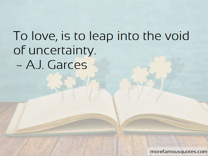 Quotes About Love Uncertainty