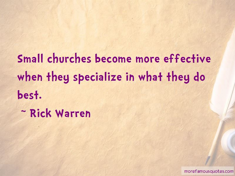 Quotes About Small Churches
