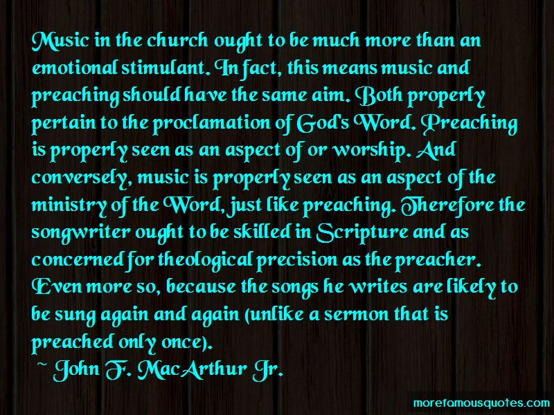 Quotes About Music In The Church
