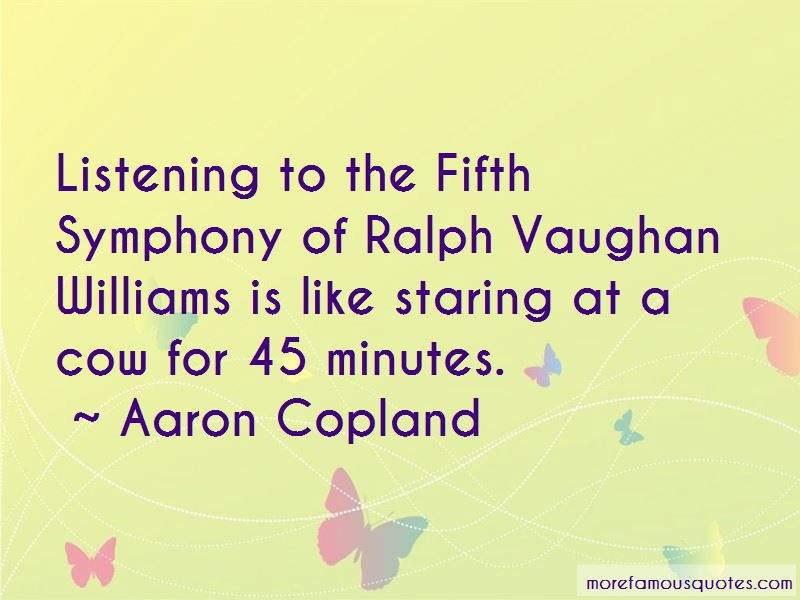 Quotes About Ralph Vaughan Williams