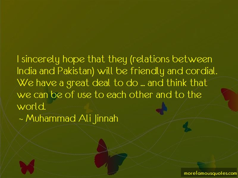 India Pakistan Relations Quotes