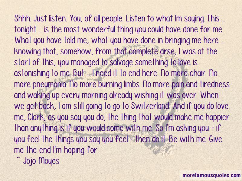Shhh I Love You Quotes