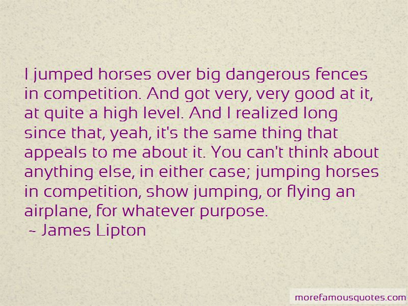 Quotes About Jumping Fences