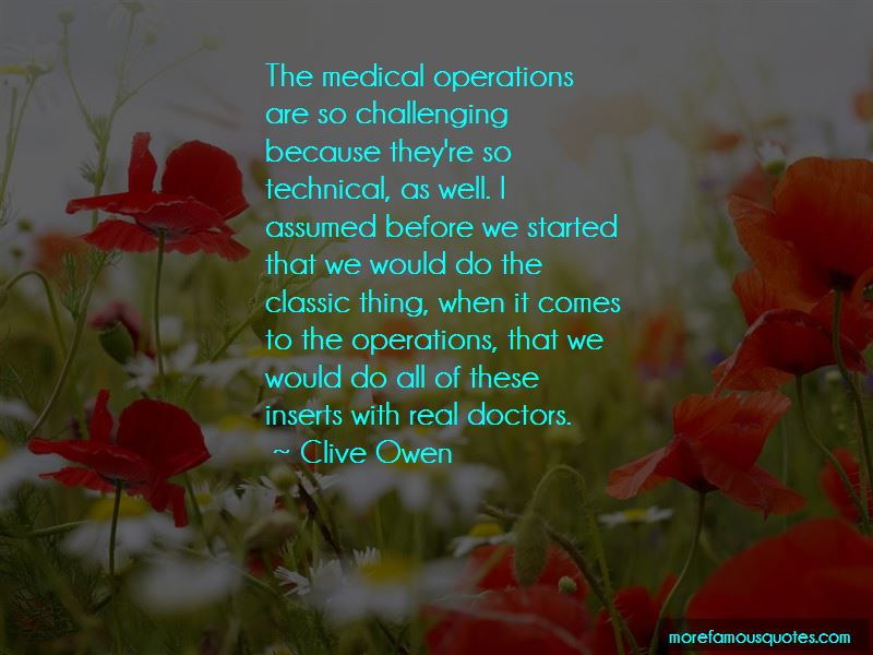 Quotes About Medical Operations