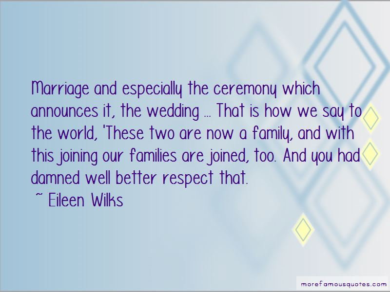 Quotes About Joining Two Families