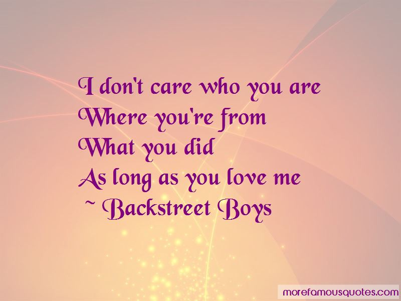 As Long As You Love Me Quotes