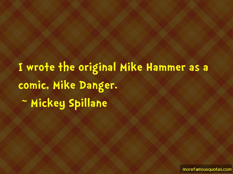 Mike Hammer Quotes