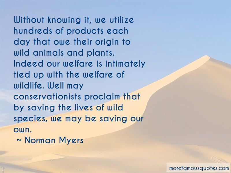 Quotes About Saving Species