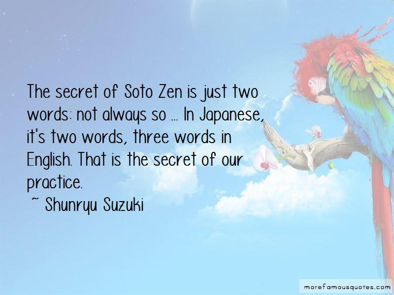 Soto Zen Quotes