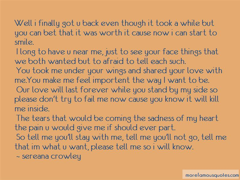 Please Stay By My Side Quotes Pictures 3