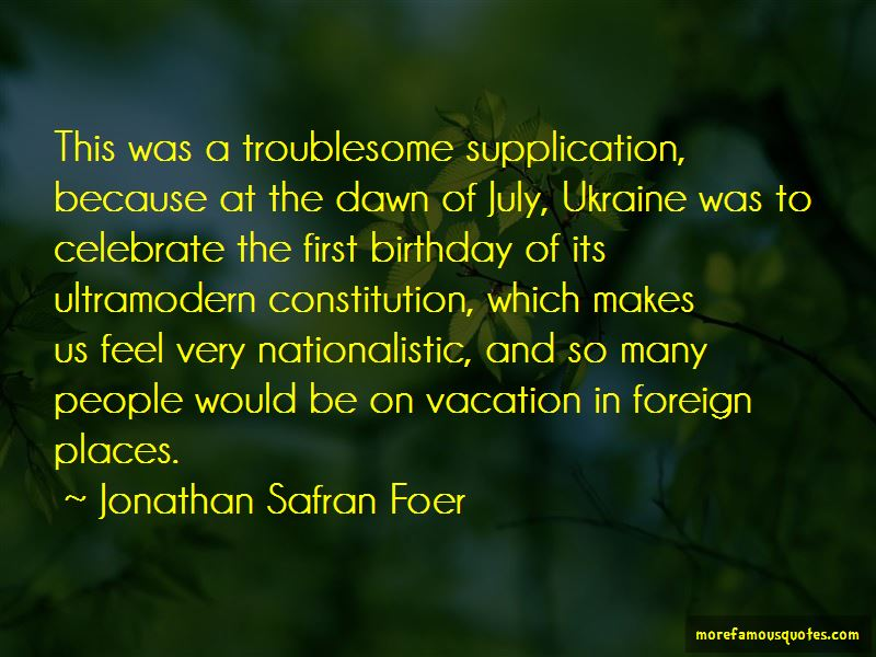 Quotes About Foreign Places