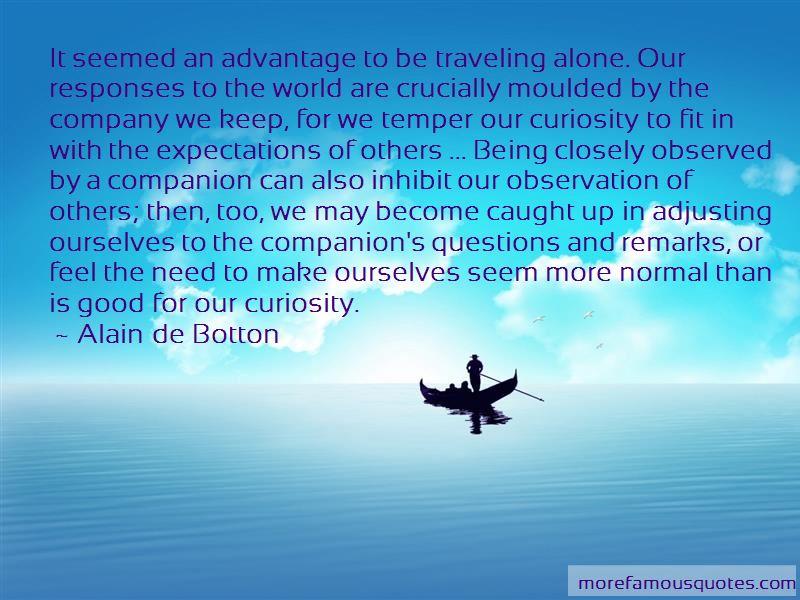 advantage of travelling