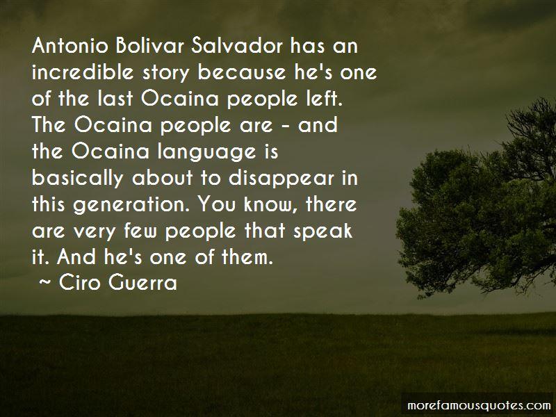 Antonio Bolivar Quotes