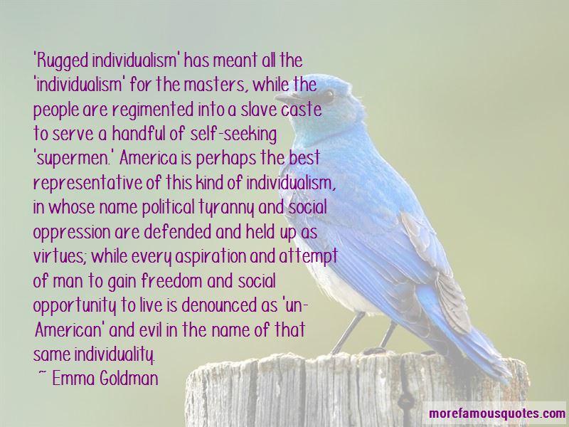 emma goldman american individualist
