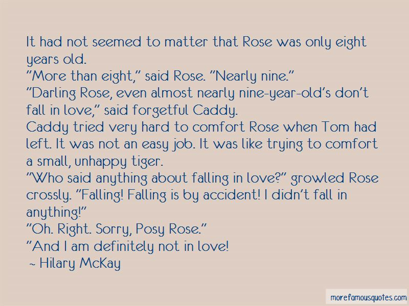 Falling In Love Is Not Easy Quotes