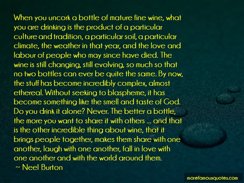 Quotes About Drinking Wine Alone