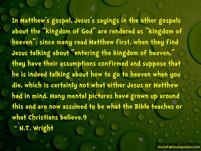 Quotes About Entering The Kingdom Of God