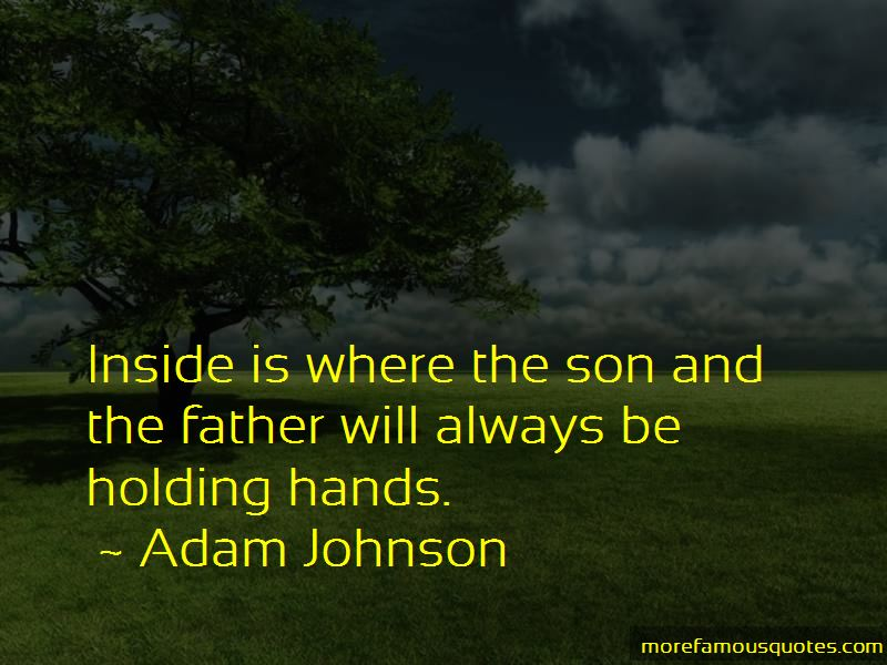 Quotes About Father And Son Holding Hands