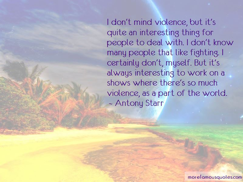 Quotes About Fighting Violence With Violence