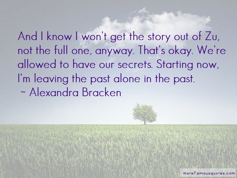 Quotes About Leaving The Past Alone