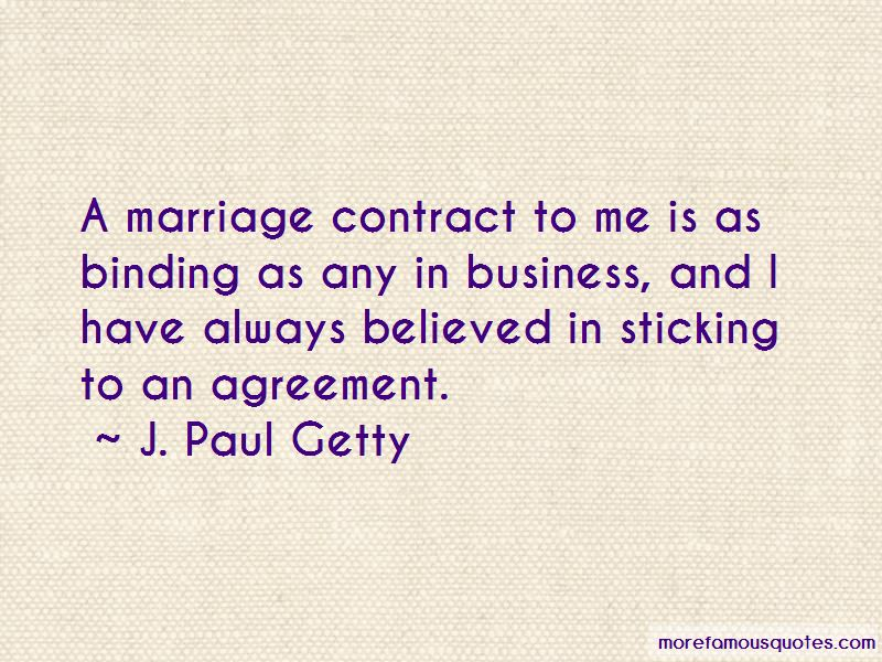 Quotes About Marriage Contract Top 43 Marriage Contract Quotes From