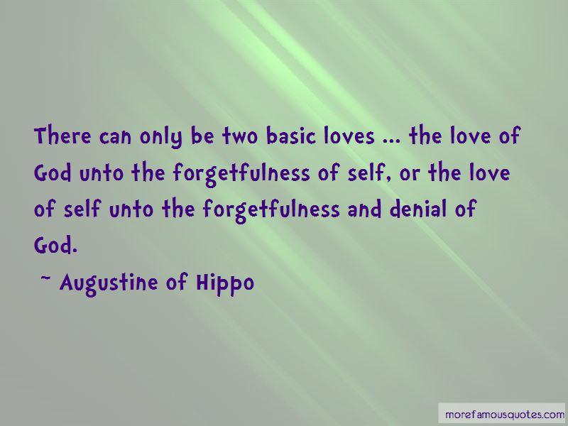Self Denial Love Quotes