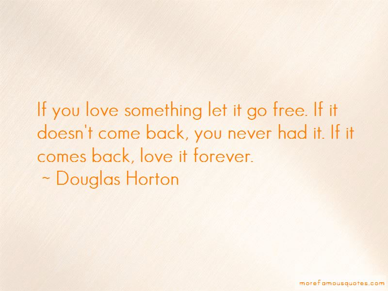 Love Something Let It Go Quotes