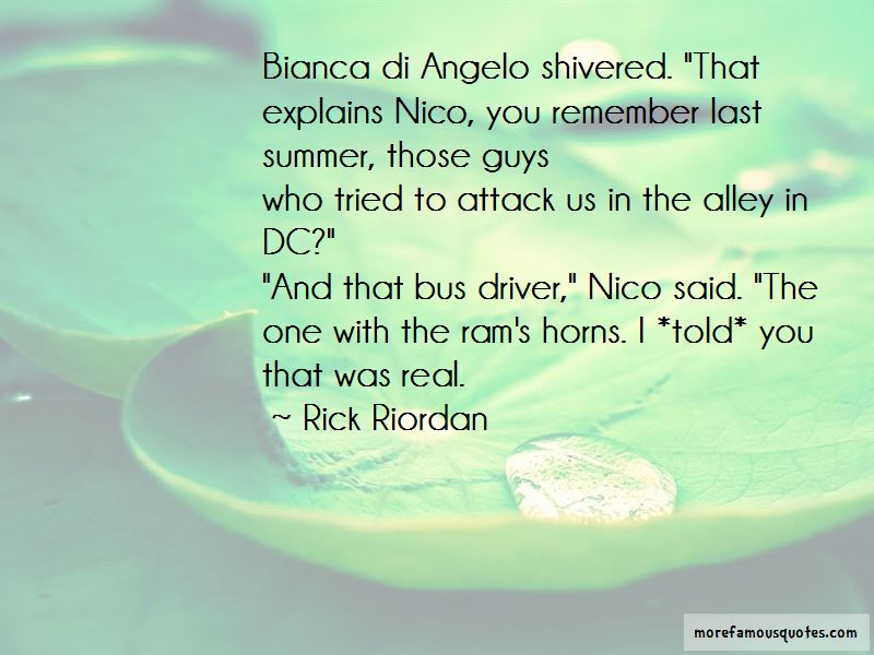 Nico And Bianca Di Angelo Quotes