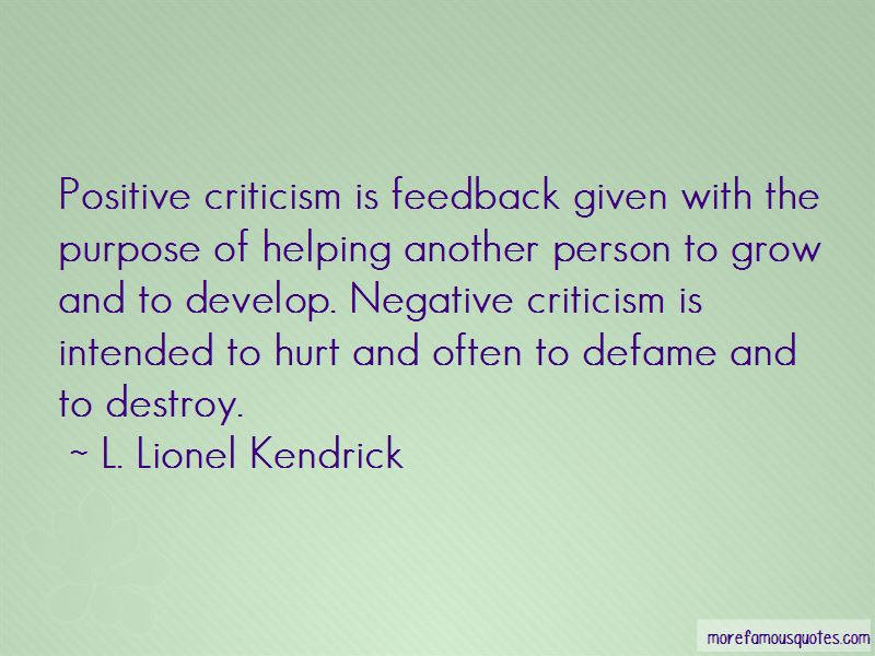 Positive Criticism Quotes Pictures 3