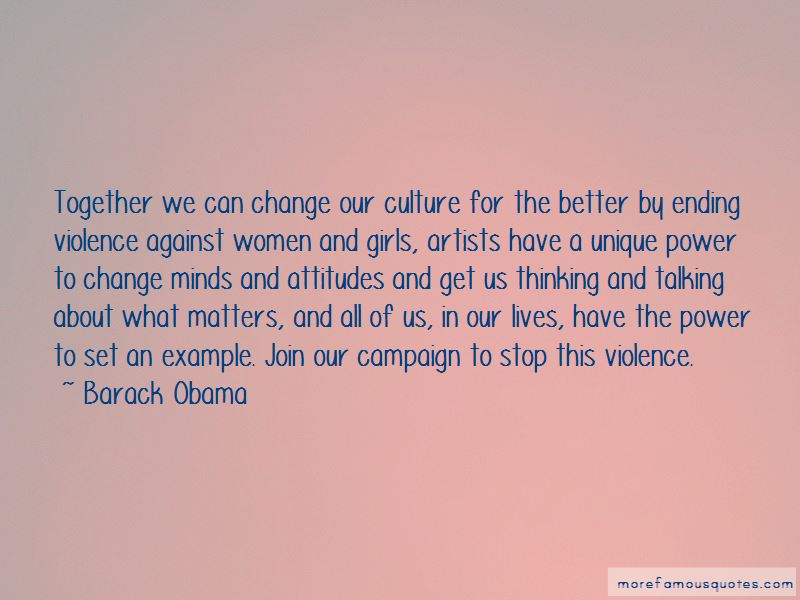 Quotes About Ending Violence
