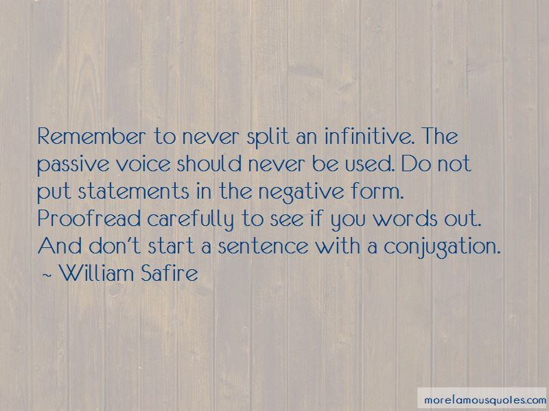 Quotes About Infinitive