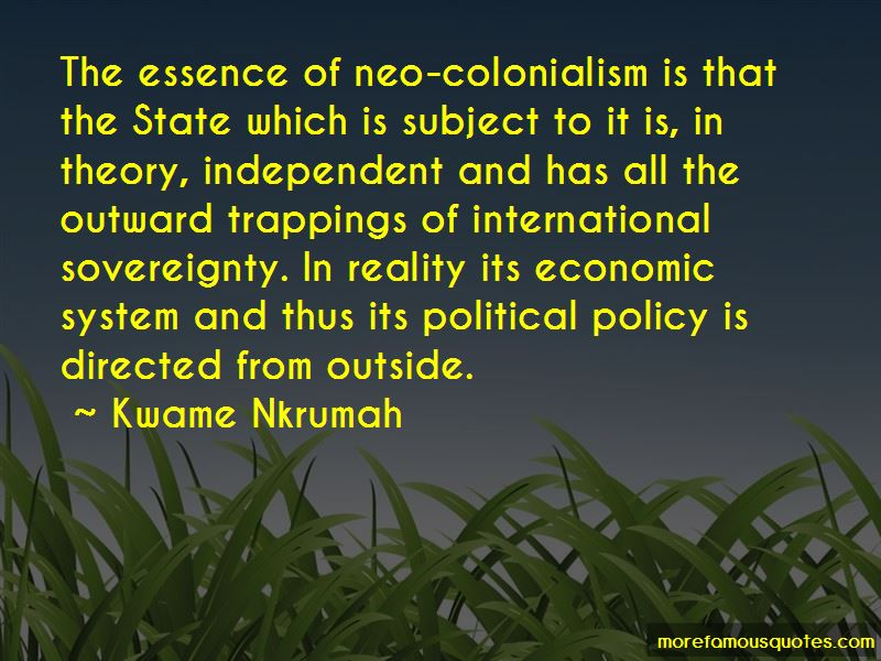 Quotes About Neo Colonialism