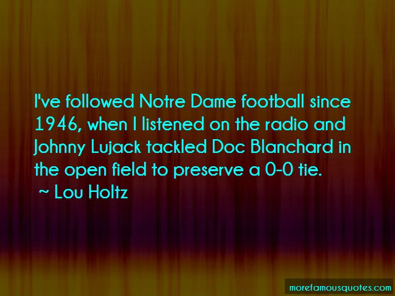 Quotes About Notre Dame Football