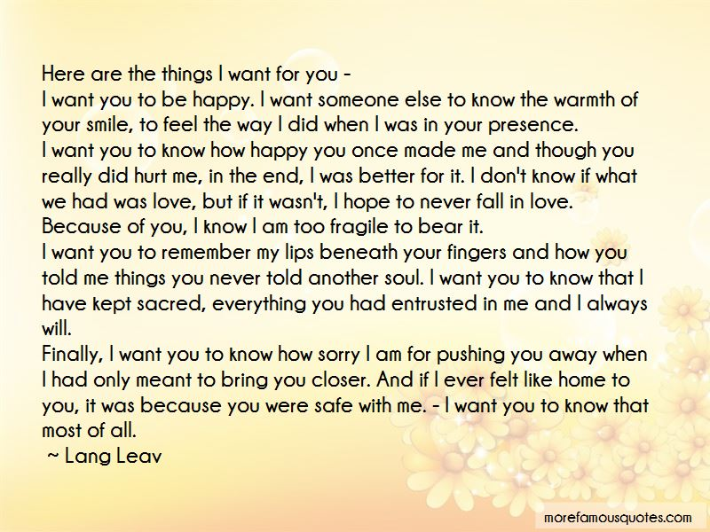 Quotes About Pushing Someone You Love Away