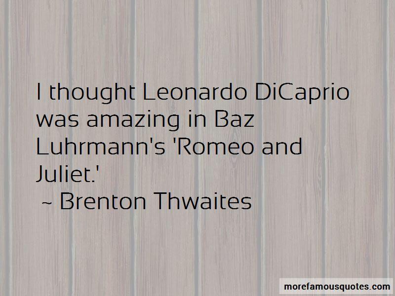 Romeo Juliet Leonardo Quotes Pictures 4