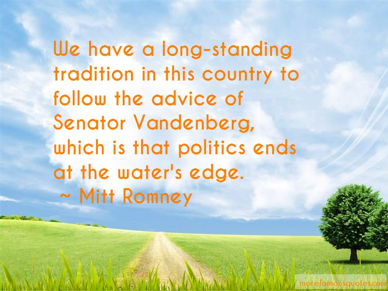 Senator Vandenberg Quotes