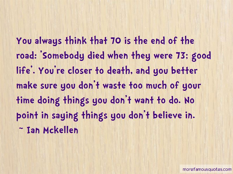 Good Life Death Quotes