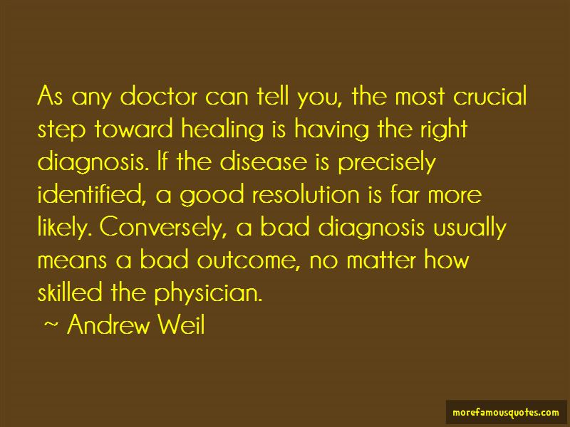Quotes About A Bad Diagnosis