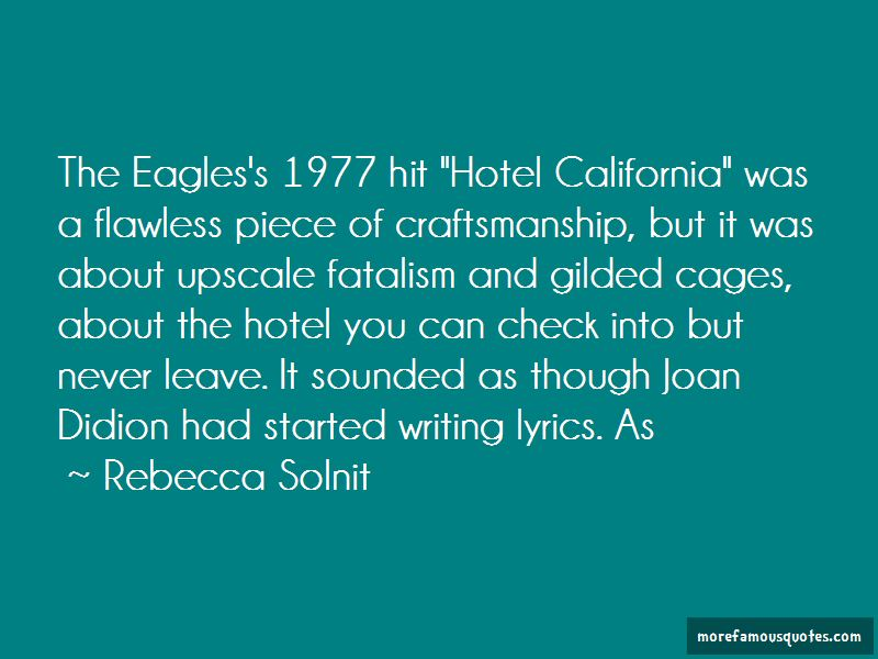 Quotes About Hotel California