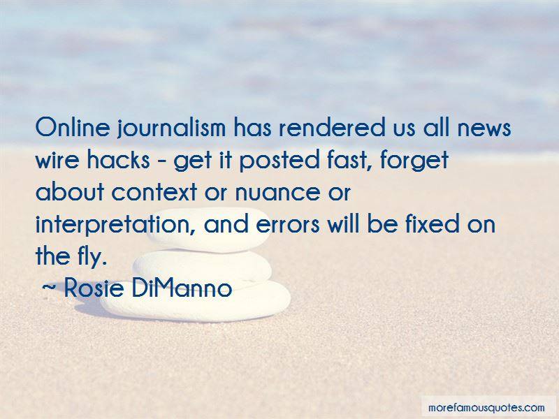 Quotes About Online Journalism