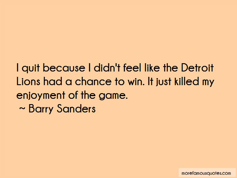 Quotes About The Detroit Lions