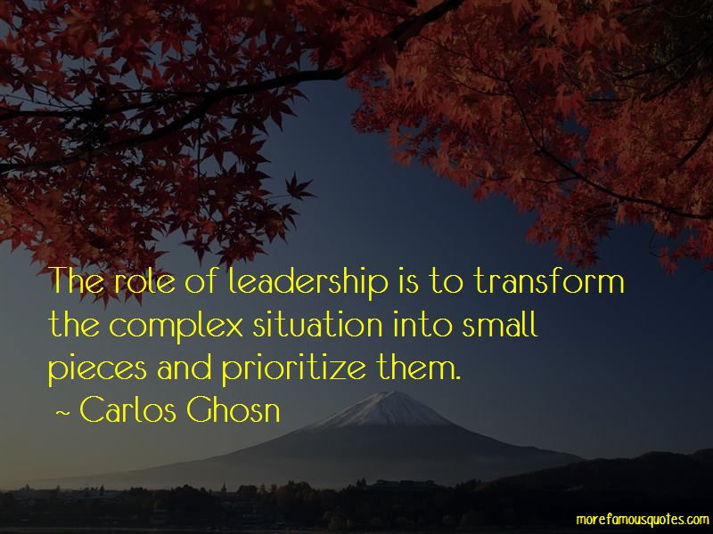 Role Of Leadership Quotes