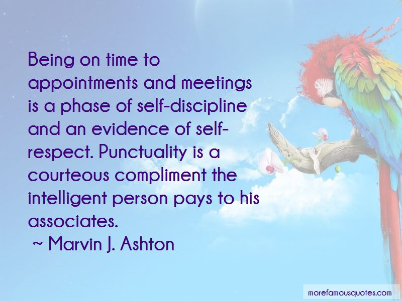 punctuality and discipline