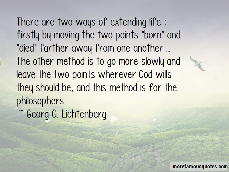 Extending Life Quotes