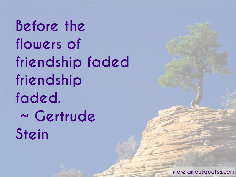Quotes About Faded Friendship